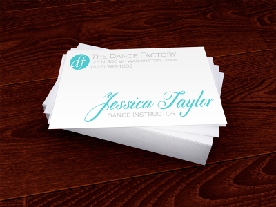 Dance Factory Business Cards