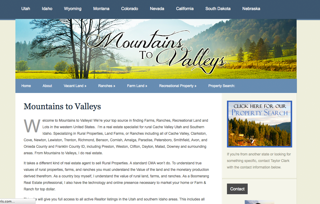 Mountains to Valleys Website