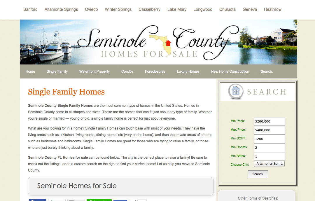 Seminole County Homes