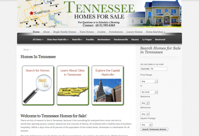 Tennessee Homes For Sale Website